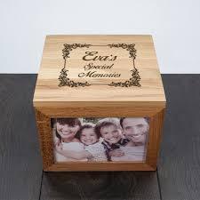personalised keepsake box personalised vintage style oak photo keepsake box