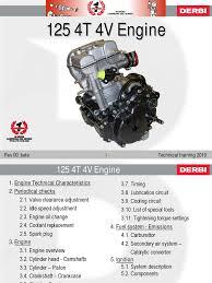 derbi technical training 2010 125 4t 4v clutch transmission