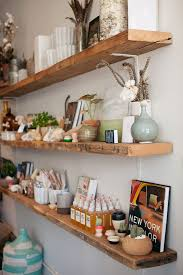 Barn Wood Floating Shelves by Best 25 Wooden Floating Shelves Ideas Only On Pinterest Wood