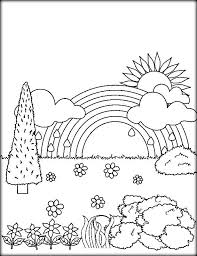 printable rainbow colouring sheet leprechaun rainbow coloring