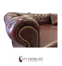 canapé capitonné chesterfield canapé rétro américain sur mesure chesterfield city mobilier