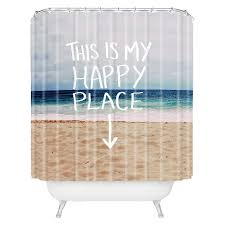 Beachy Shower Curtains Happy Place Shower Curtain Blue Deny Designs皰 Target