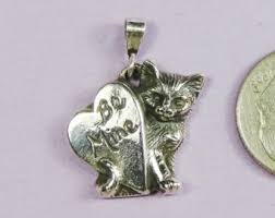 personalized cat pendant sterling silvercat s w
