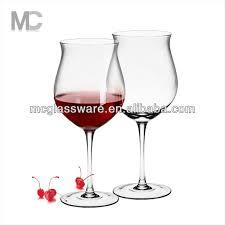 unique shaped wine glasses wholesale unique wide tulip shaped stem wine glass