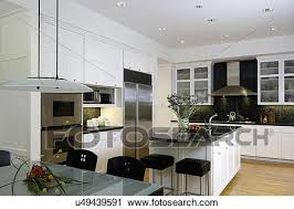glass top kitchen island stock photography of kitchen horizontal with frosted glass top