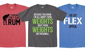 themed t shirts men s fitness themed t shirts groupon goods