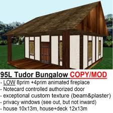 tudor bungalow second life marketplace attractive low prim tudor bungalow