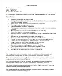 Resume Template Executive Assistant Ceo Job Description 4 Job Description Works With Ceo The
