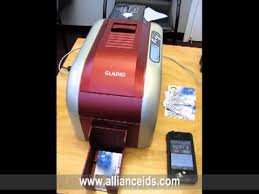 Instant Business Card Printing The New Gladio Id Card Printer Youtube
