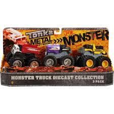 monster jam diecast trucks tonka 3 pack monster trucks selection varies walmart com