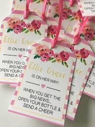 baby shower favor tags for mini wine bottles wine bottle