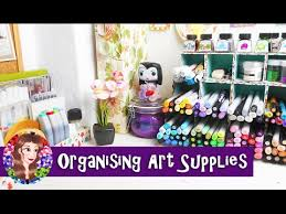 rearranging my art desk and organising art supplies artist vlog