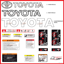 toyota forklift deluxe decal kit 7fgcu30 7fgu30 fork lift decals