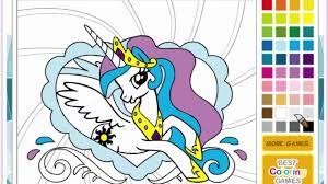 my little pony coloring pages princess celestia youtube