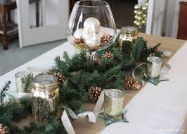 christmas tablescape rustic glamour