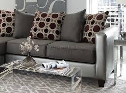 sectional sofa in pewter bi cast u0026 gray microfiber