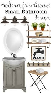 Great Ideas For Small Bathrooms Farmhouse Rehab Small Bathroom Makeover