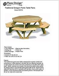 Plans For Building A Picnic Table by Traditional Octagon Picnic Table Plans Pattern How To Build A