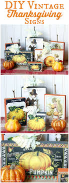 vintage thanksgiving signs the graphics