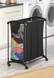 3 Section Laundry Hamper by Whitmor 3 Section Laundry Sorter Black Walmart Com