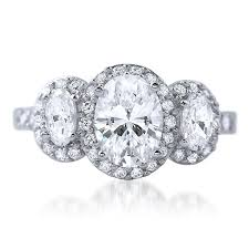 cz engagement ring 2 ctw 3 oval cut halo cz engagement ring jewelure