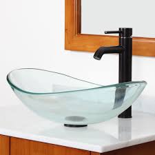 gd33 clear tempered glass sink with unique shape bathroom sinks