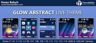 theme maker nokia 2690 glow abstract live theme for nokia c1 01 c1 02 c2 00 107 108