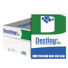 destiny multipurpose copy paper letter size paper 20 lb 500 sheets