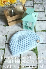 newborn pattern video textured newborn hat crochet pattern video tutorial cream of the