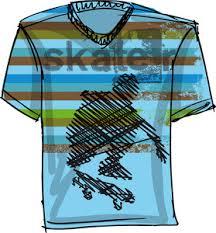 sketch of skateboard boy vector illustration royalty free stock