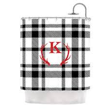 Kess Shower Curtains Best Plaid Shower Curtain Products On Wanelo