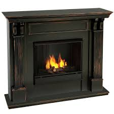 real flame ashley 48 in gel fuel fireplace in blackwash 7100 bw
