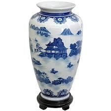 Chinese Blue And White Vase Oriental Furniture 14