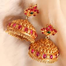 jhumka earrings online shopping traditional temple jewellery jhumkas online shopping madhurya