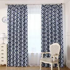 Blackout Curtains For Bedroom Blackout Curtains Blue Printed Plaid Window Curtain Living Room