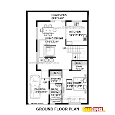 house plan for 30 feet by 45 feet plot plot size 150 square yards