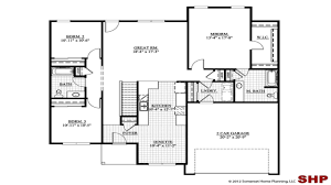 walk out basement plans ranch house plan plans harmony rustic floor mountainith front and