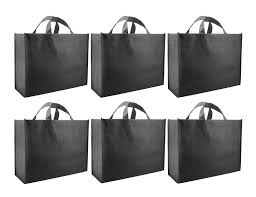 reusable gift bags large black 6 pack home kitchen