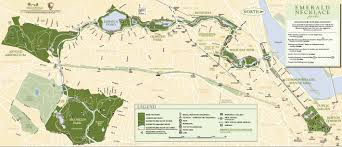 Freedom Trail Map Boston by Boston U0027s Emerald Necklace Master Pinterest Emerald Necklace