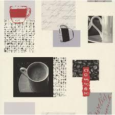 papier peint cuisine papier peint café blanc gris papier cuisine et bain leroy merlin