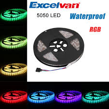 led color changing light strips aliexpress com buy excelvan 5m 300leds smd 5050 rgb flexible led
