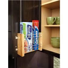 Kitchen Cabinet Rails Vertical Foil Rack For Kitchen Cabinets Maple With Chrome Rails