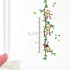 Monkey Nursery Wall Decals Height Chart Wall Decals Monkey Decor Stickers For