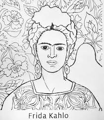 coloring pages diego rivera diego rivera coloring pages frida kahlo coloring pages history