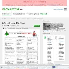 let u0027s talk about christmas worksheet pearltrees
