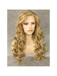 strawberry blonde waist length wavy synthetic lace wig sny055
