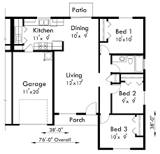 House Plans Single Level Main Floor Plan For D 516 One Level Duplex House Plans 3 Bedroom
