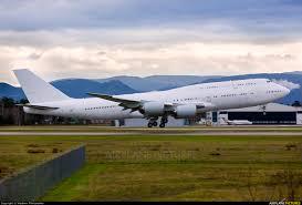 Karlsruhe Baden Baden A7 Hja Qatar Amiri Flight Boeing 747 8 Bbj At Karlsruhe Baden