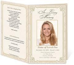 memorial program sles 29 images of downloadable funeral program template leseriail
