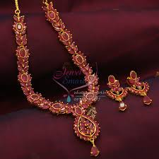 gold necklace ruby images Ad0804 full ruby necklace traditional indian jaipur design jpg